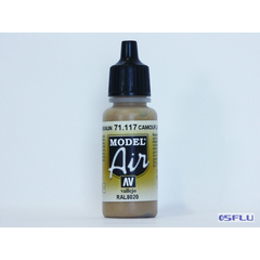 Vallejo 71.117 - 17ml - Camouflage Brown - Model Air